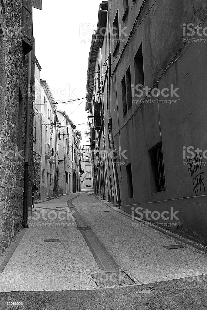 Vicolo in Agde, Francia foto stock royalty-free