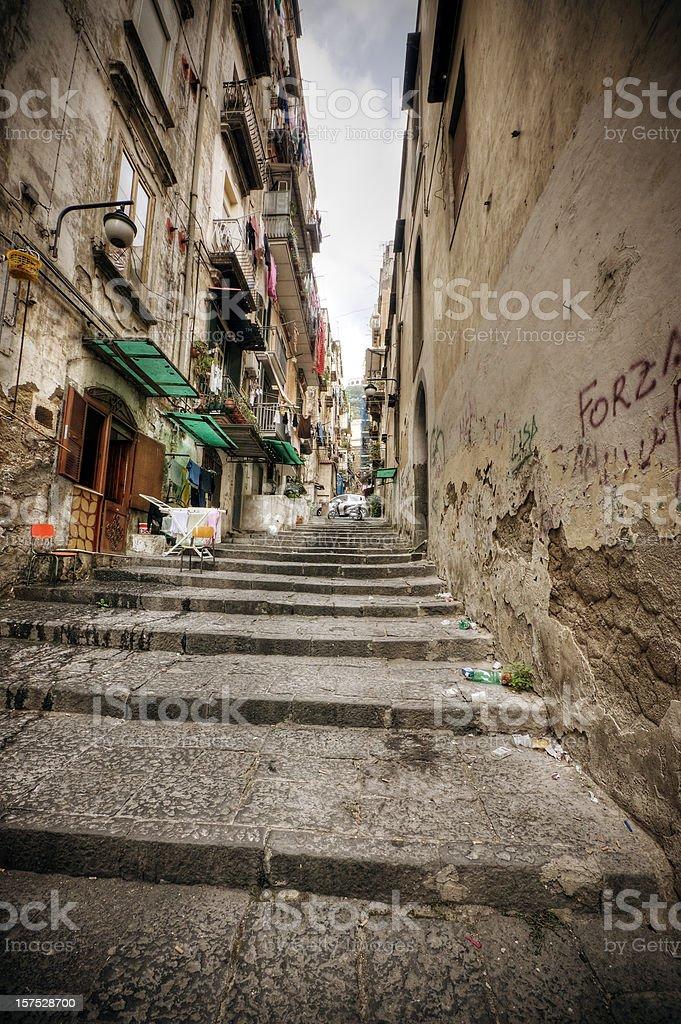 Alleyway in Naples Italy stock photo