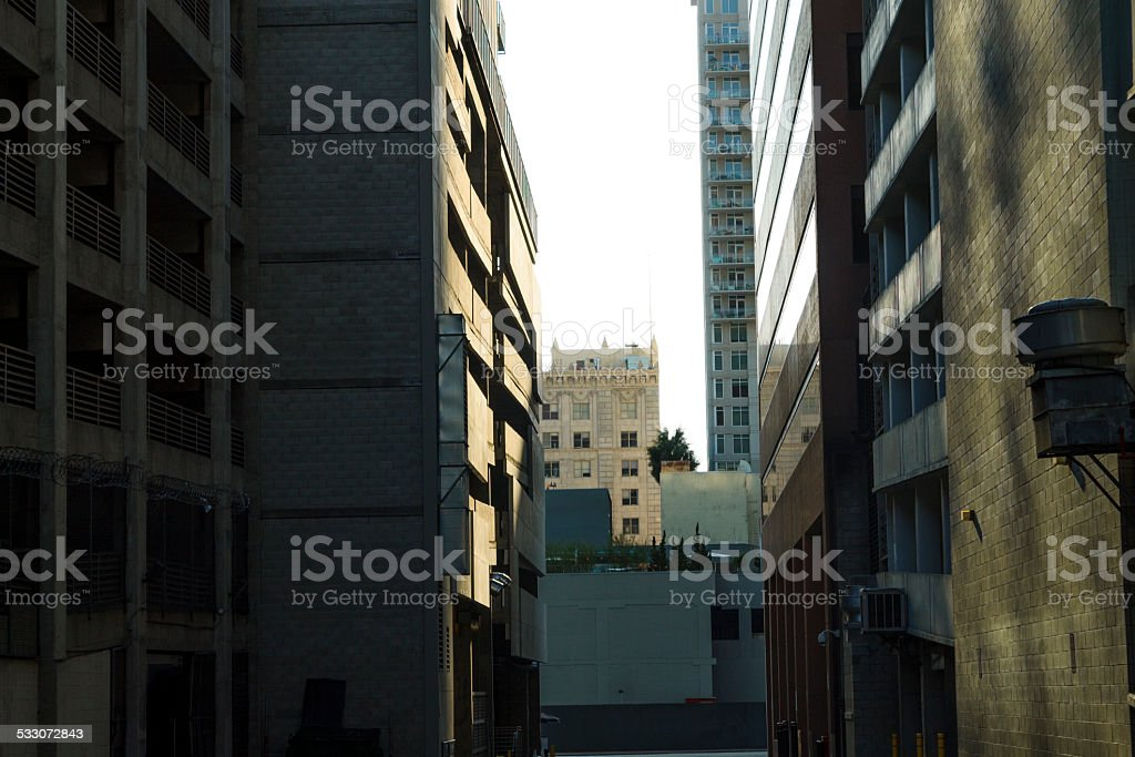 Alleyway Los Angeles stock photo