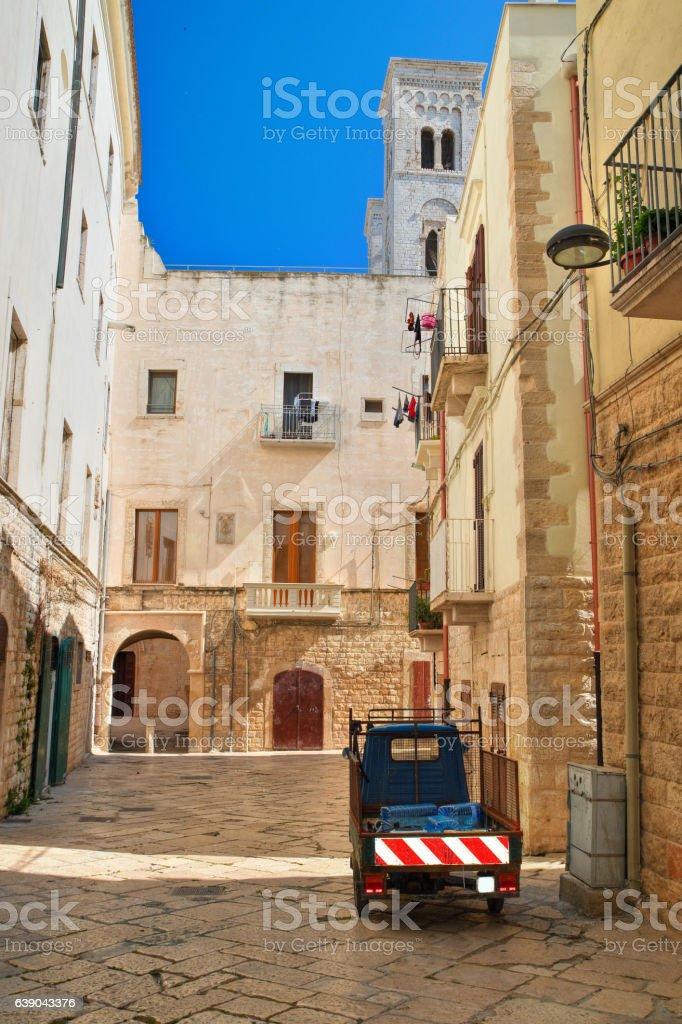 Alleyway, Molfetta. Puglia. Italy. stock photo