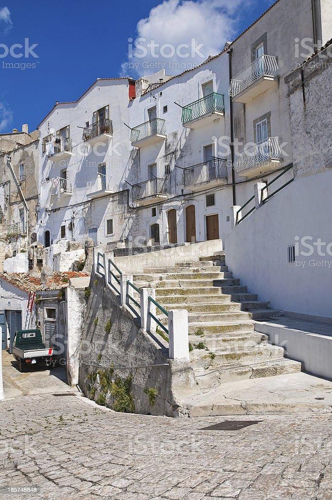 Alleyway. Monte Sant'Angelo. Puglia. Italy. royalty-free stock photo