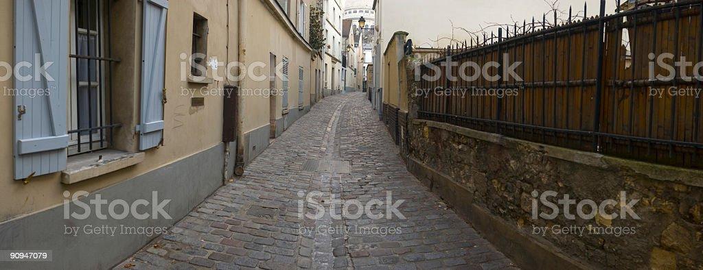 Alleyway, Paris royalty-free stock photo