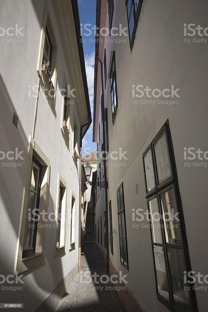 Alley-way royalty-free stock photo
