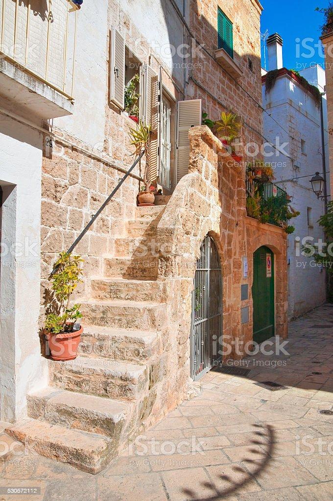 Alleyway. Polignano a mare. Puglia. Italy stock photo