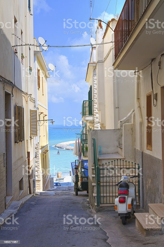 Alleyway. Rodi Garganico. Puglia. Italy. royalty-free stock photo