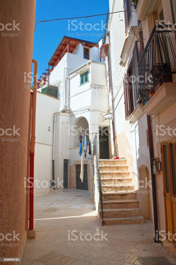Alleyway. Rutigliano. Puglia. Italy. stock photo