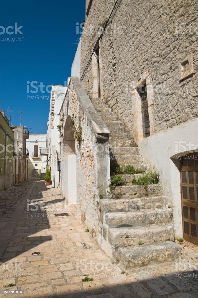 Alleyway. Sammichele di Bari. Puglia. Italy. stock photo