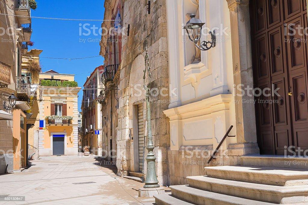 Alleyway. San Severo. Puglia. Italy. stock photo