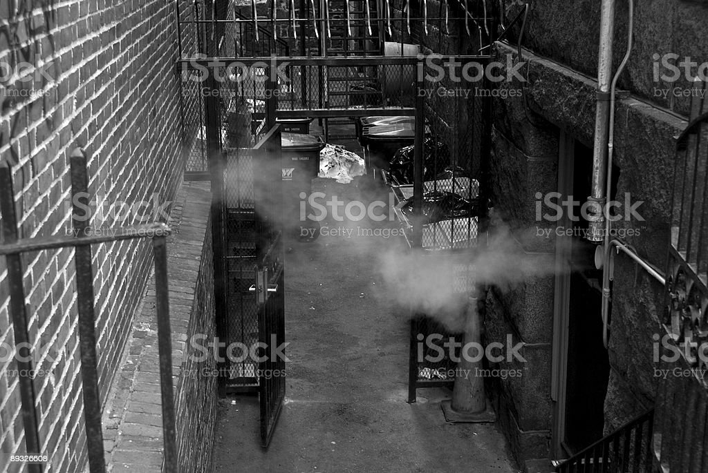 alleyway steam royalty-free stock photo