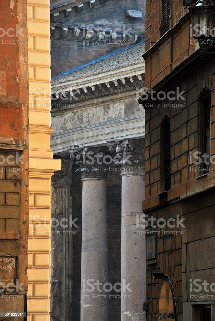 Alleyway to the Pantheon stock photo