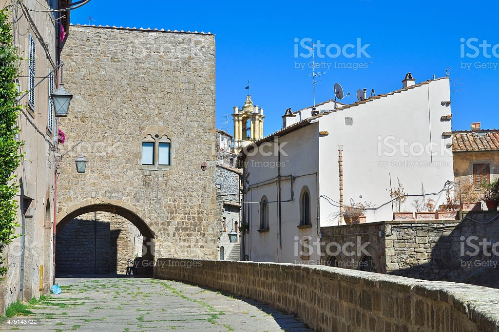 Alleyway. Viterbo. Lazio. Italy. stock photo
