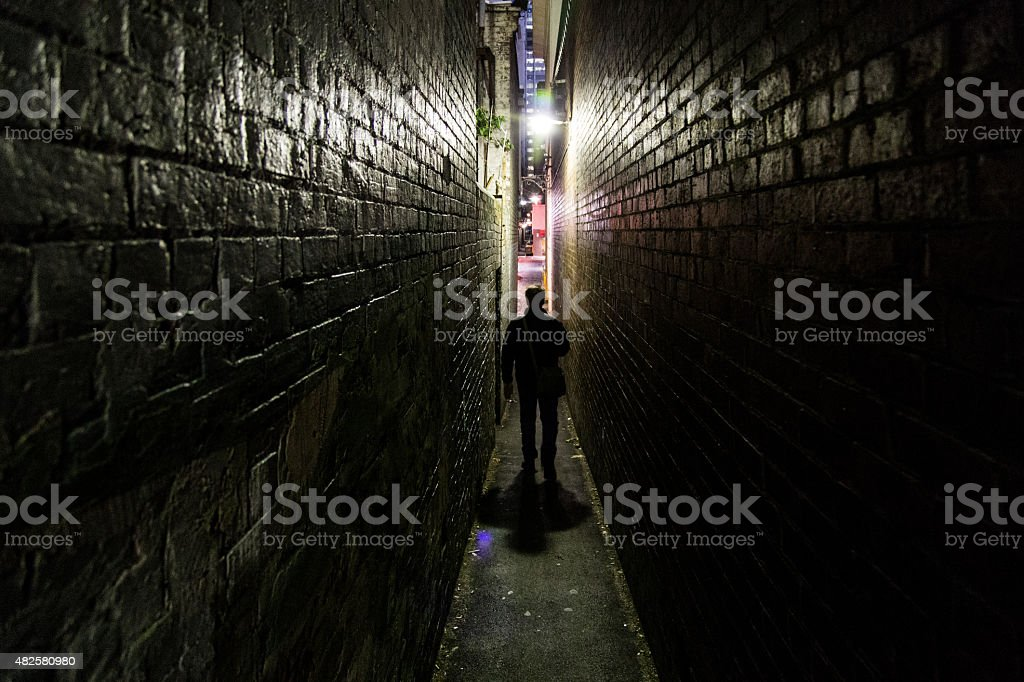 Alleyway Walk stock photo