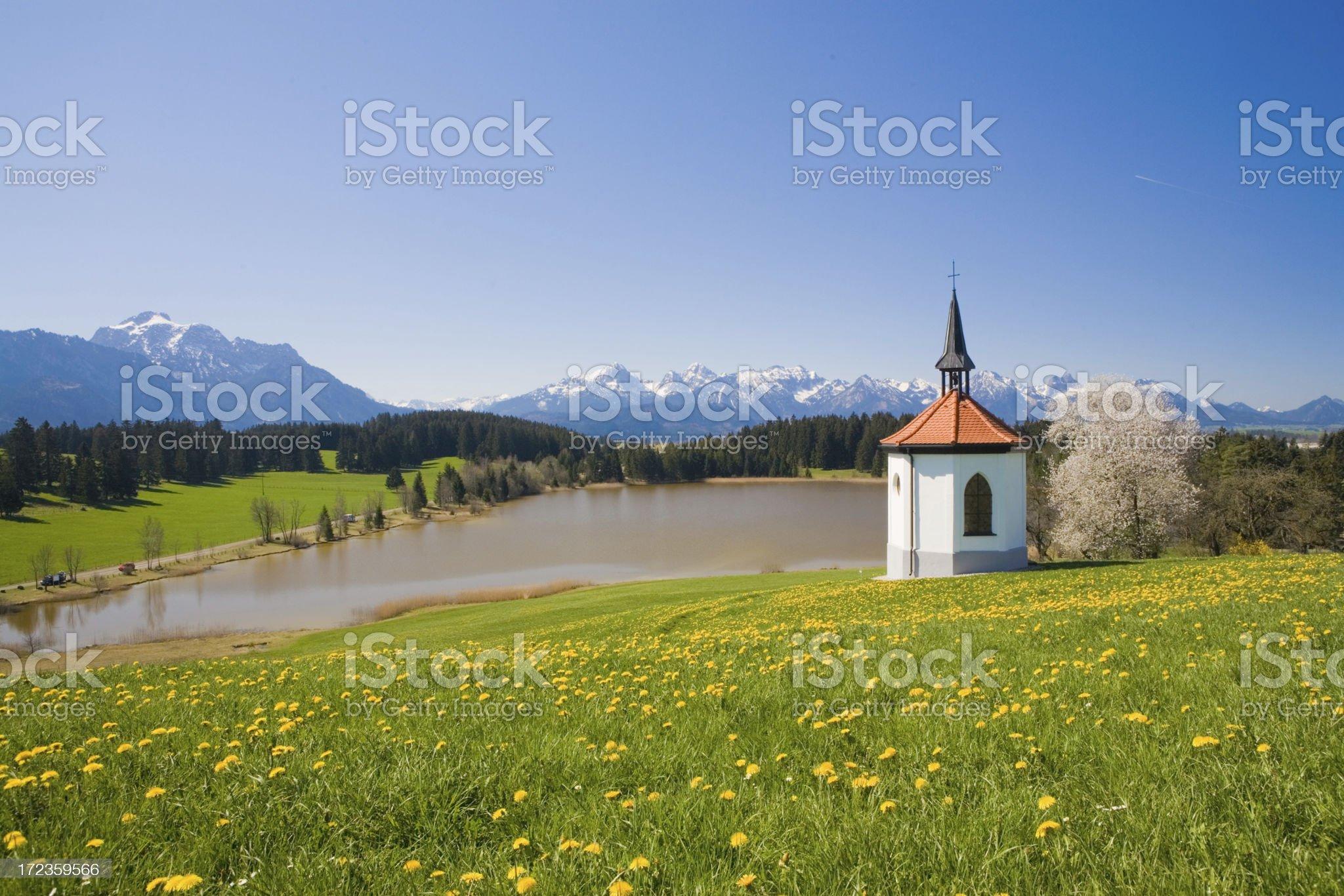 allgaeu chapel royalty-free stock photo