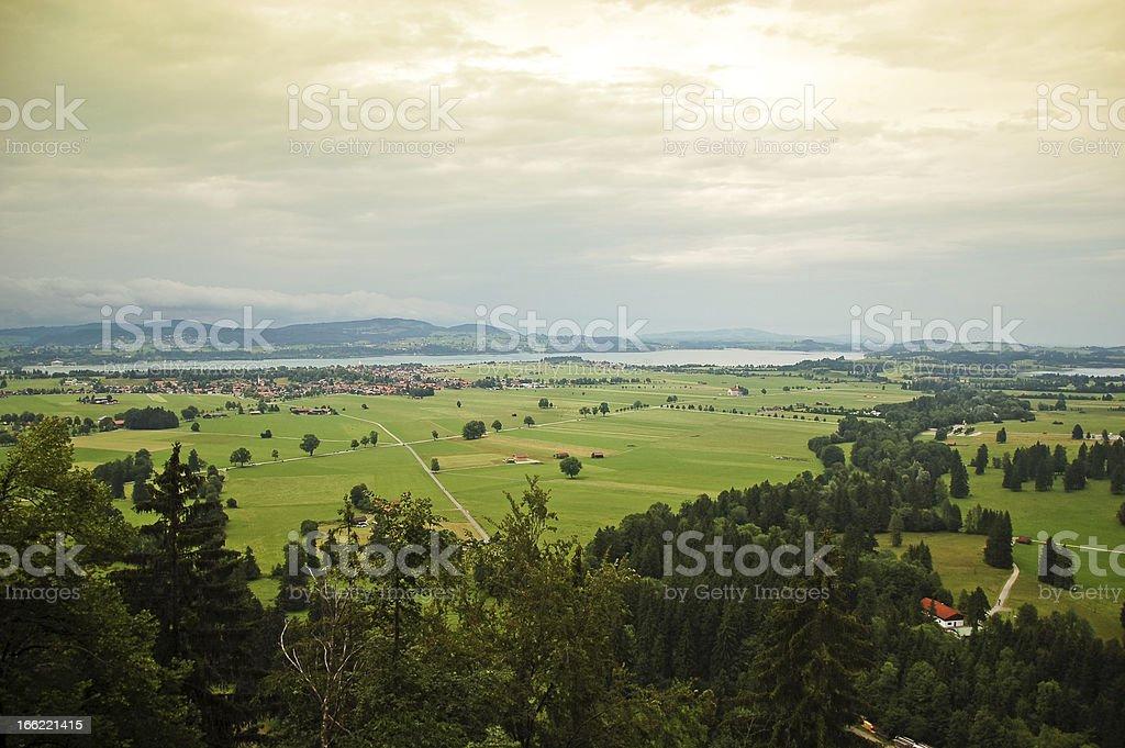 Allgau region landscape, Bavaria royalty-free stock photo