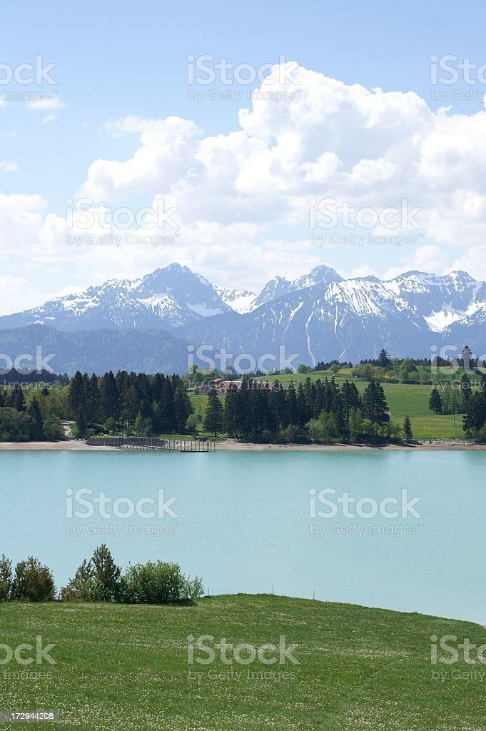 Allgäu lake and mountains royalty-free stock photo