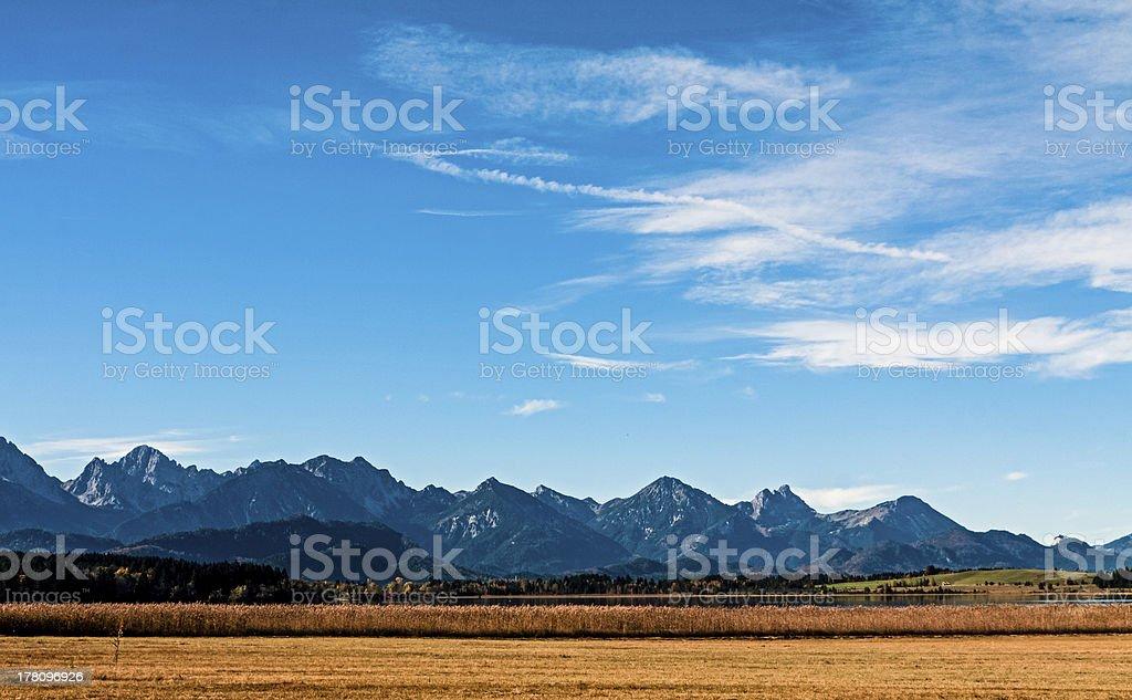 Allgäu mountain panorama stock photo