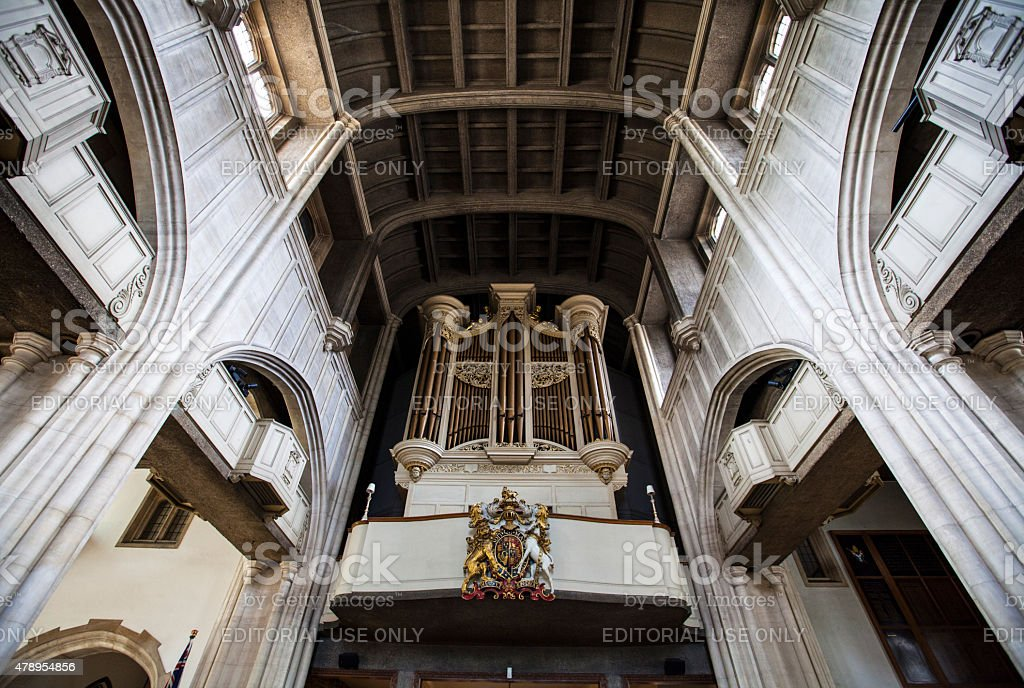 All-Hallows-by-the-Tower Church in London stock photo