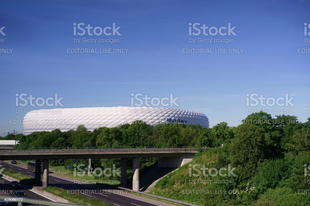 Alliance arena statdium in Munich stock photo