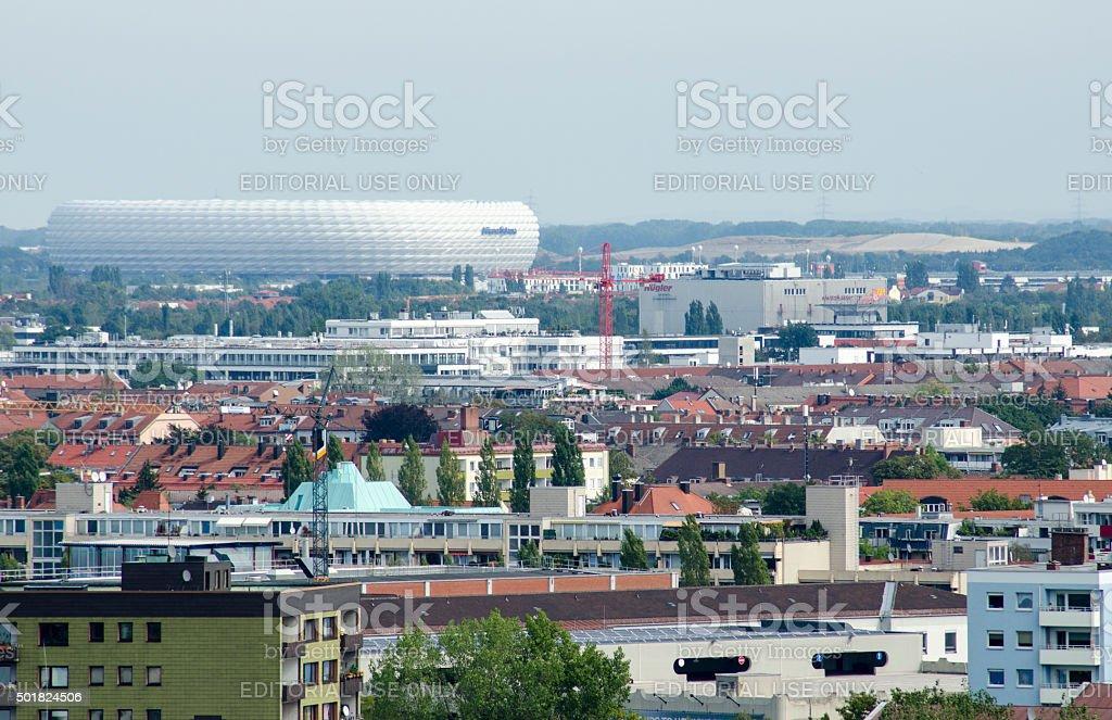 Allianz Arena Munich stock photo