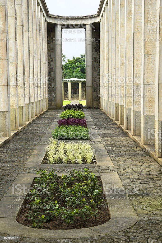 Allied War Memorial Cemetery (Htauk Kyant), Myanmar royalty-free stock photo