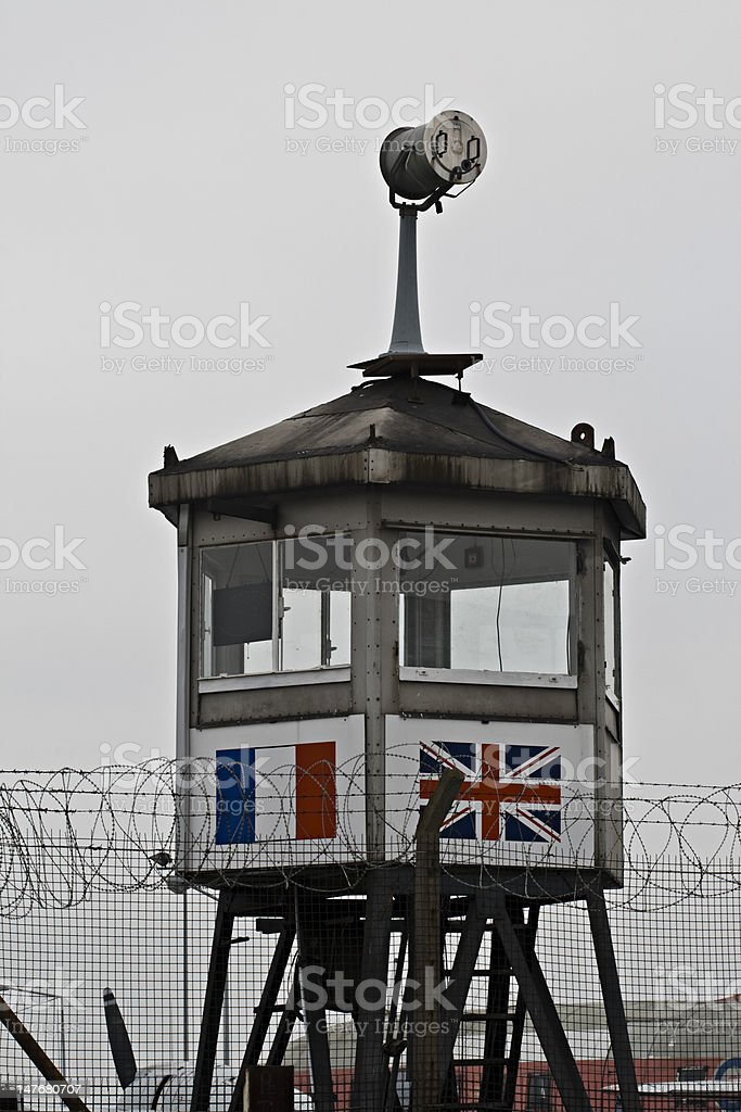 Allied watchtower Berlin royalty-free stock photo