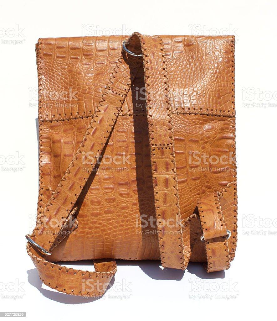 Alligator Leather Backpack stock photo
