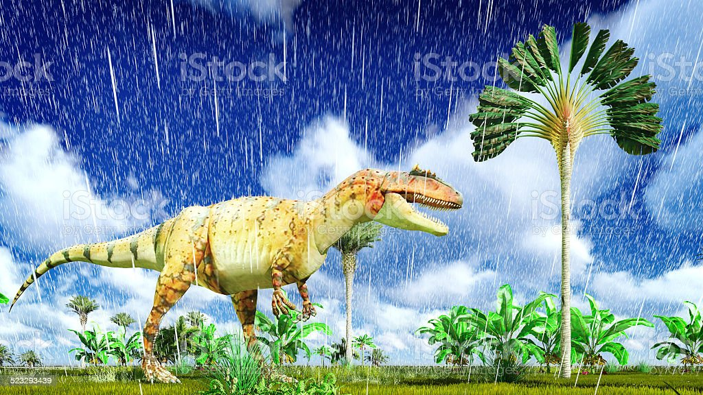 Allosaurus fragilis stock photo