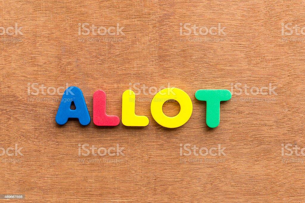 allot stock photo