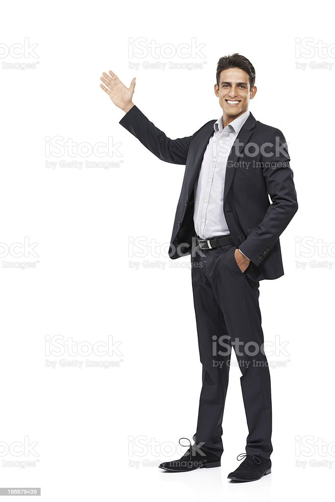 Allow me to introduce your copyspace stock photo