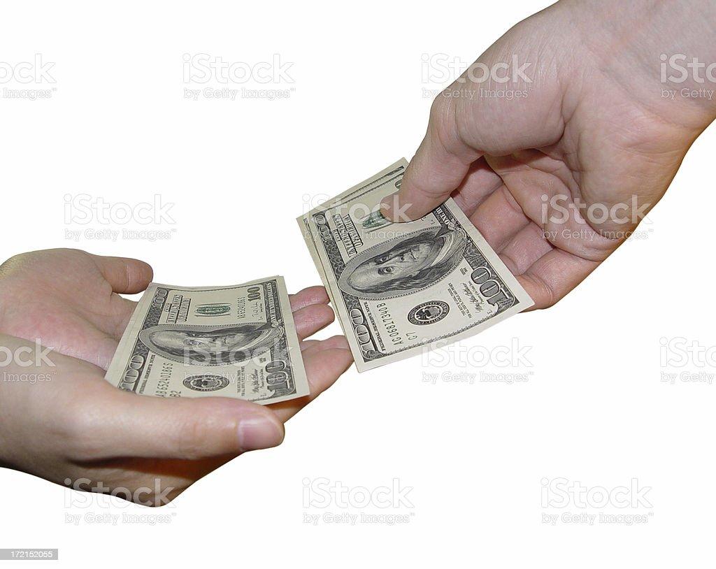 Allowance or Alimony royalty-free stock photo