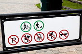 Allowed signs and not allowed signs