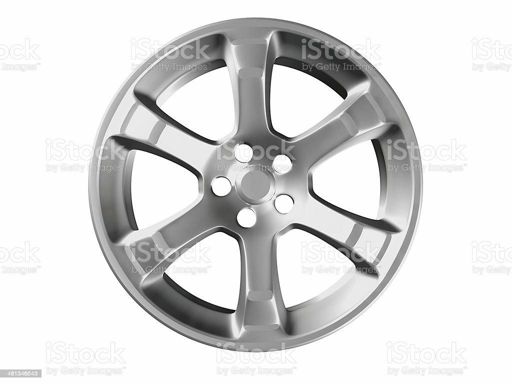 Alloy car rim with six spokes stock photo