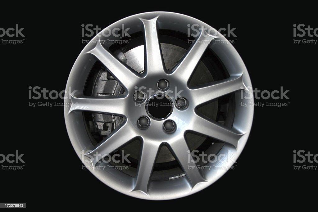 Alloy car wheel royalty-free stock photo