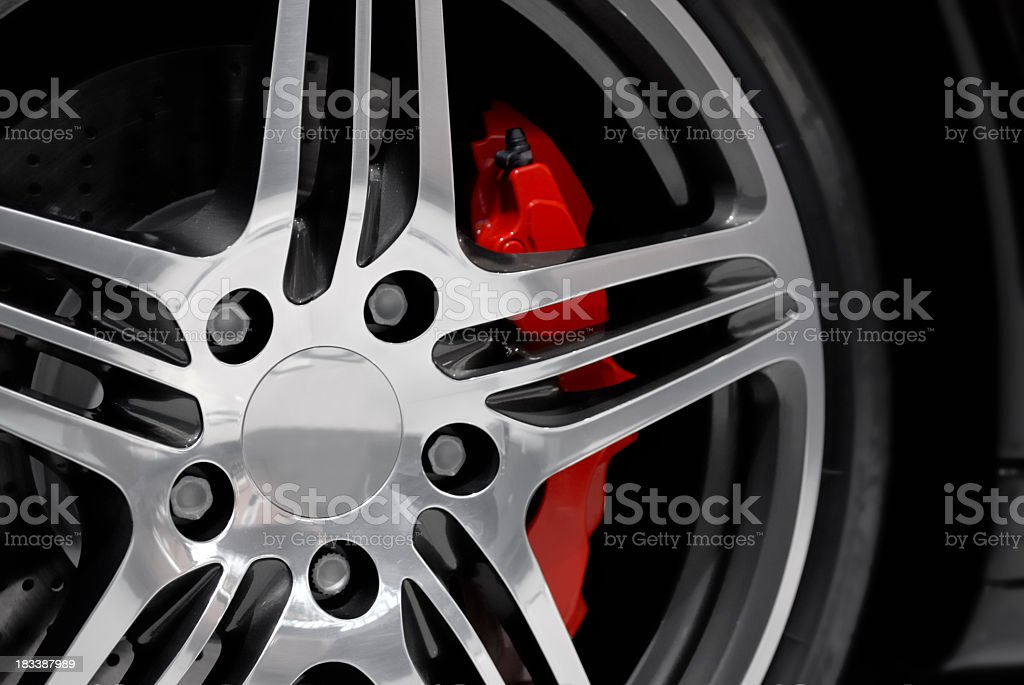 Alloy on a sports car royalty-free stock photo
