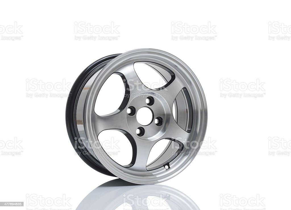 Alloy rim on isolated white background royalty-free stock photo