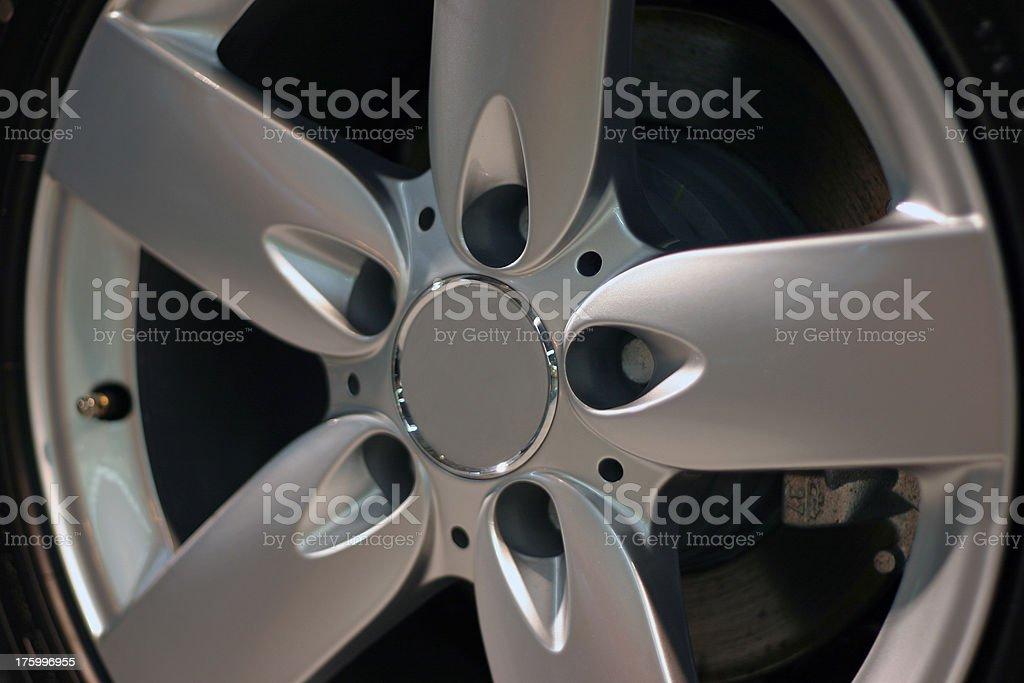 Alloy wheel, detail royalty-free stock photo