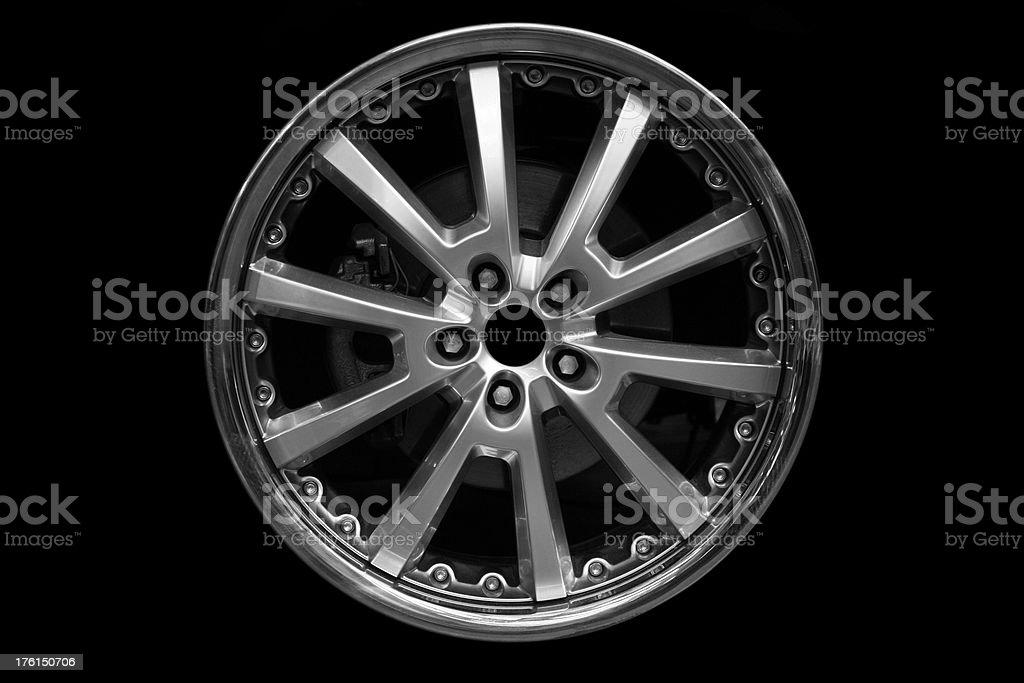 Alloy wheel on black royalty-free stock photo