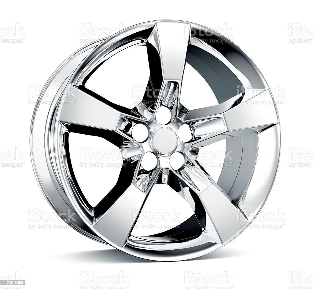 Alloy Wheel Rim isolated on white stock photo