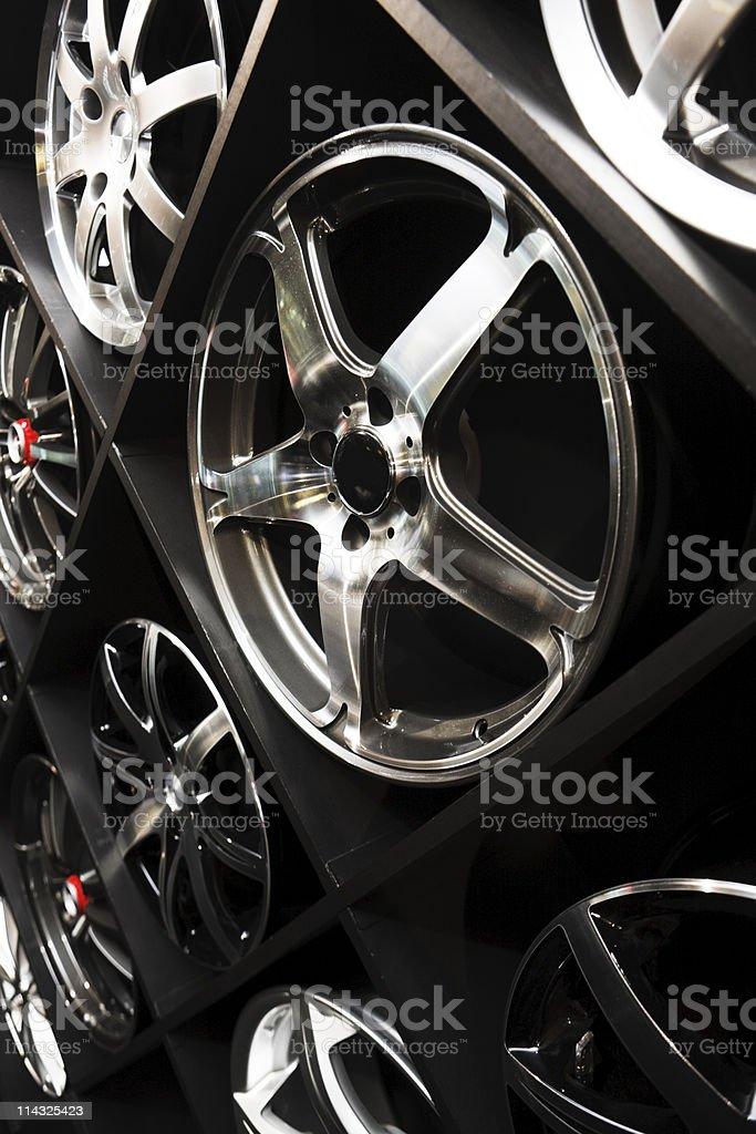 Alloy wheels stock photo
