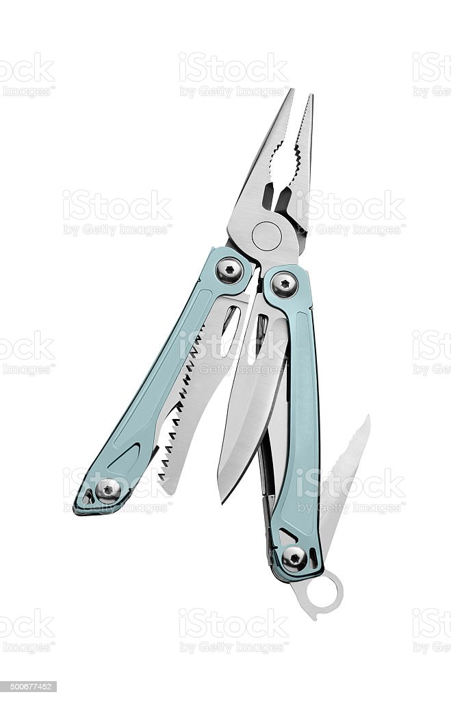 All-purpose swiss knife stock photo