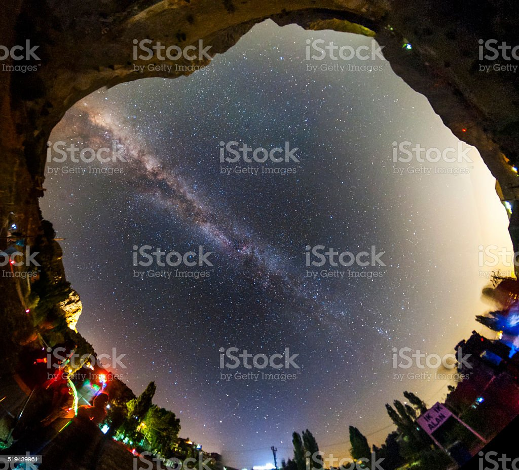All-sky view of the Milky Way royalty-free stock photo
