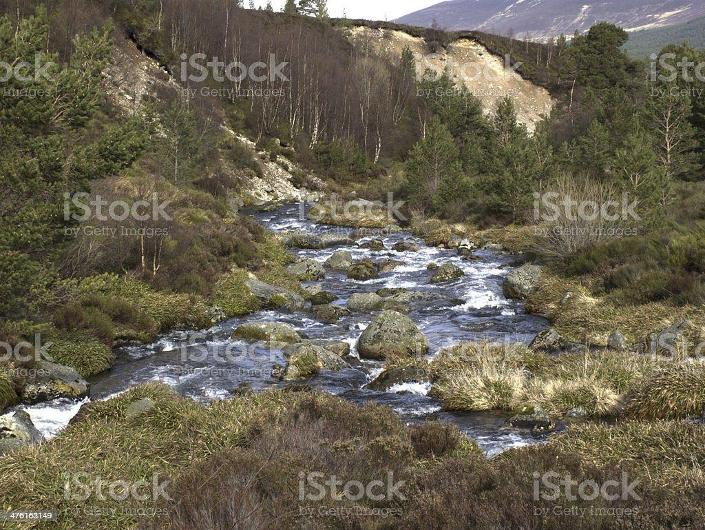 Allt Mor river, Cairngorm mountains royalty-free stock photo