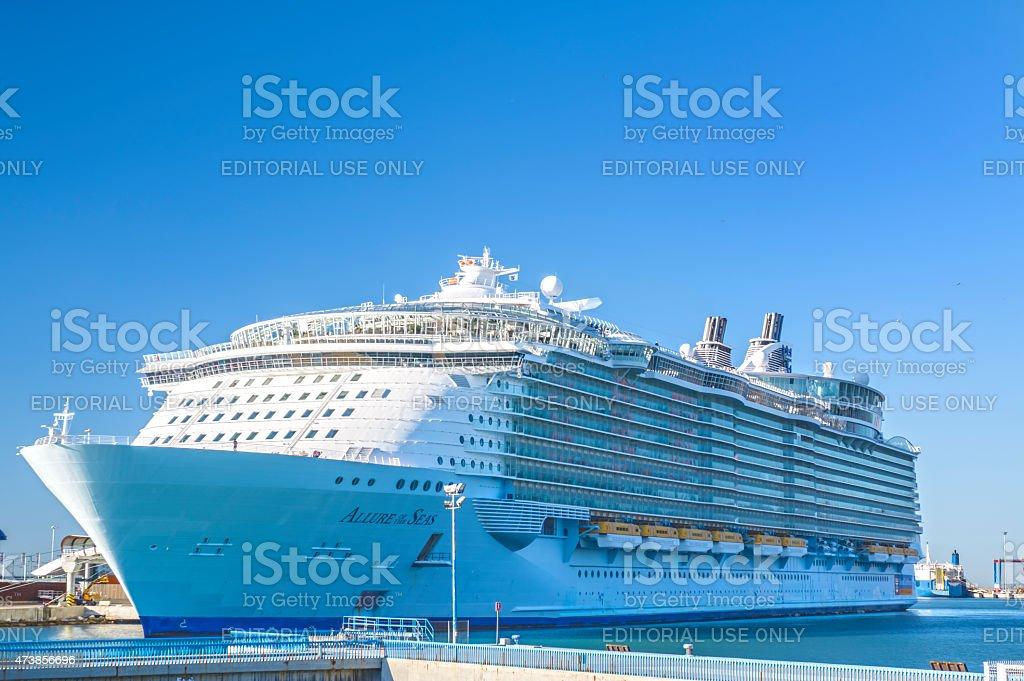 Allure of the Seas in Malaga stock photo