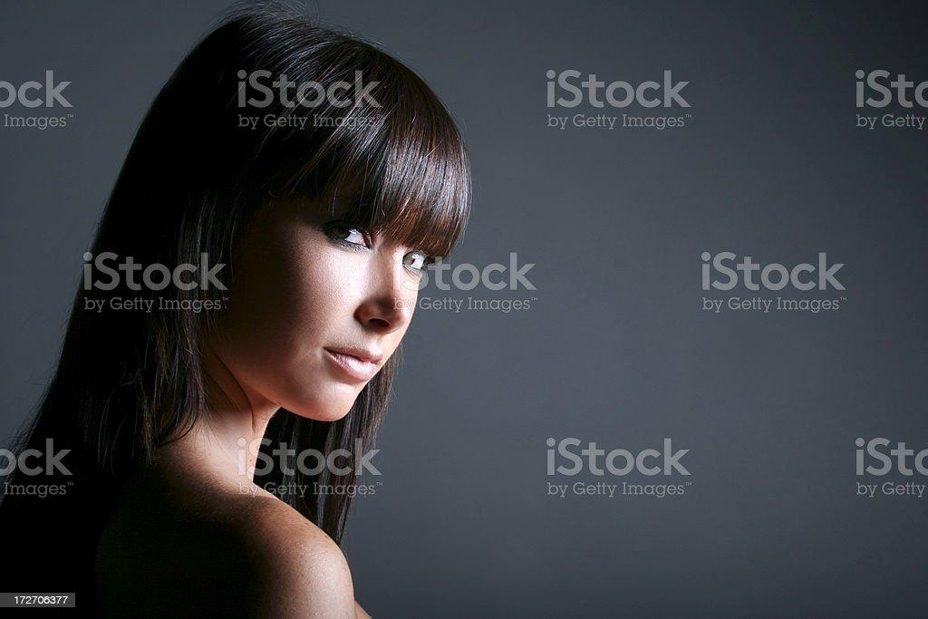 Alluring Brunette royalty-free stock photo