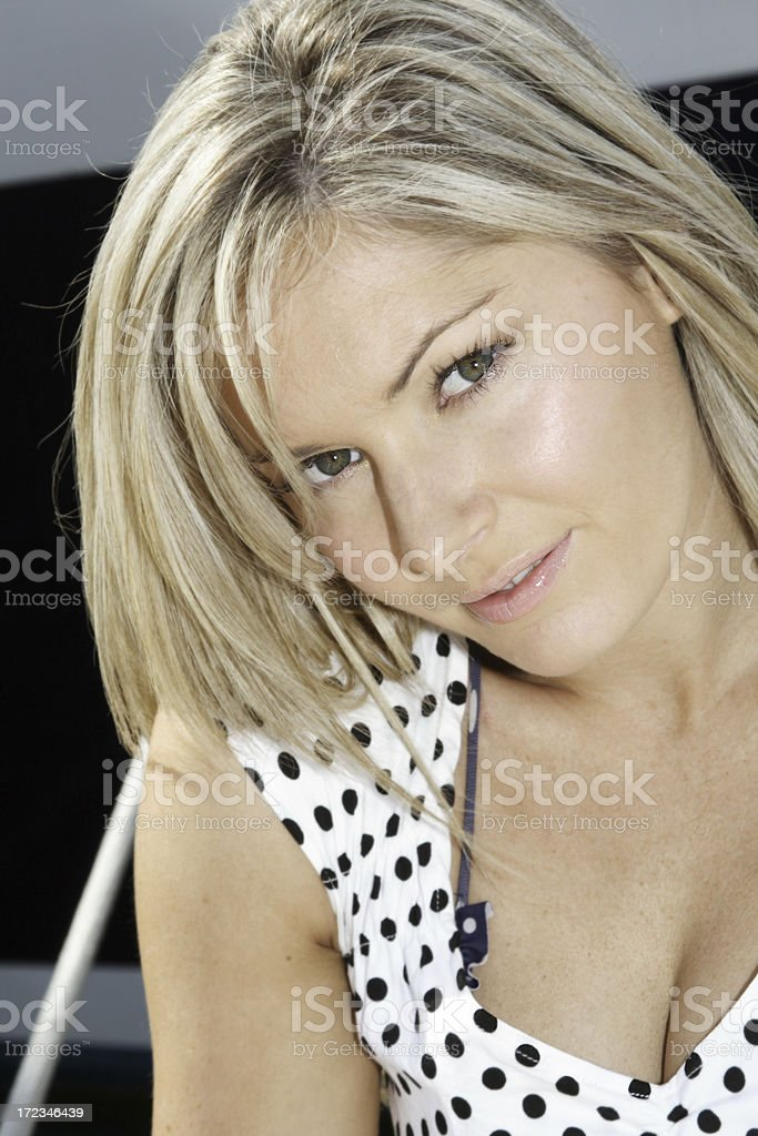 alluring polka dot girl royalty-free stock photo