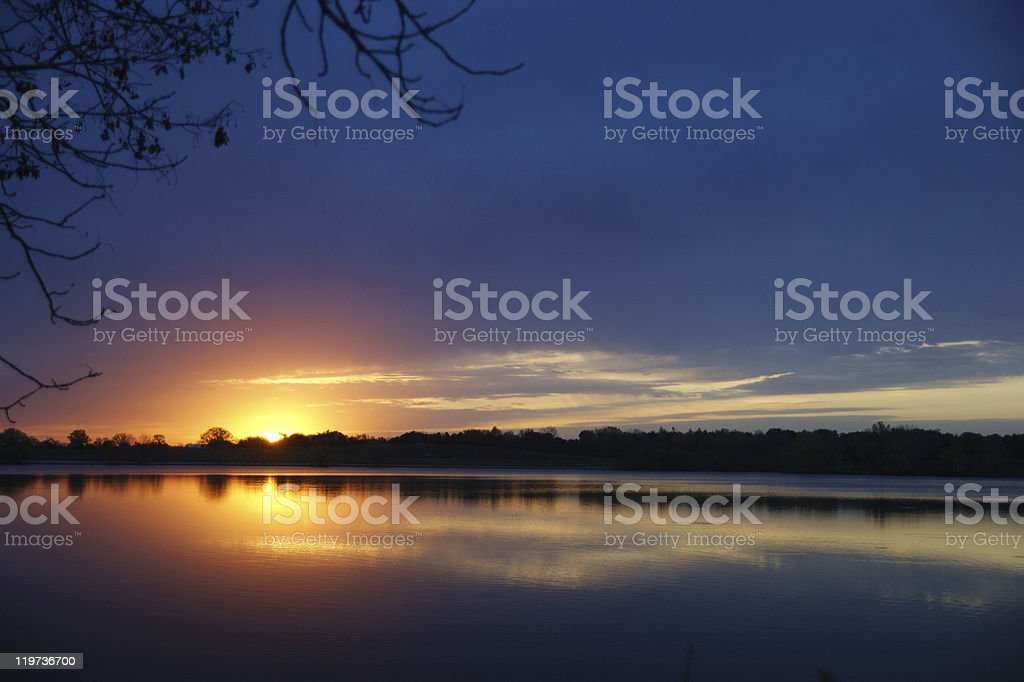 Alluring Sunset on lake royalty-free stock photo