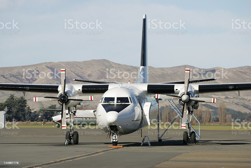 all-white airliner stock photo