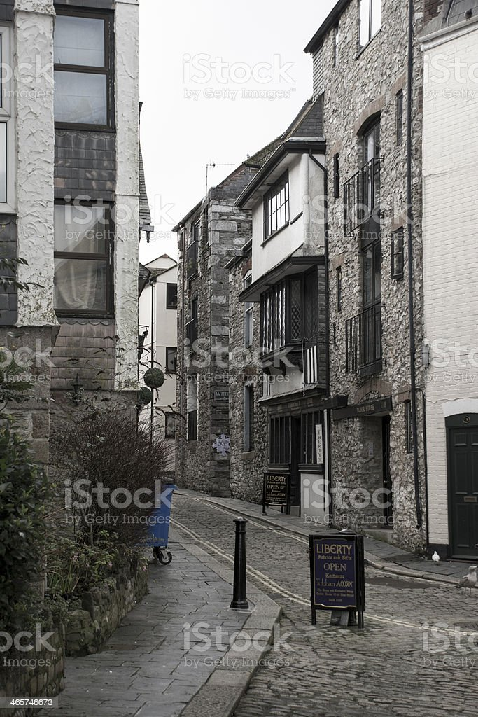 Ally way on Plymouth barbican royalty-free stock photo