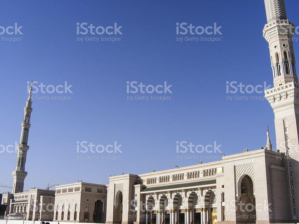 Al-masjid Al-nabawi mosque in Medina, Saudi Arabia stock photo