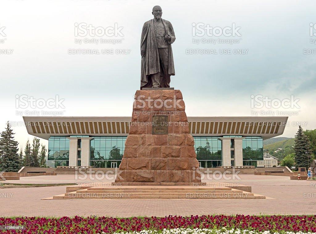 Almaty - Abay monument stock photo